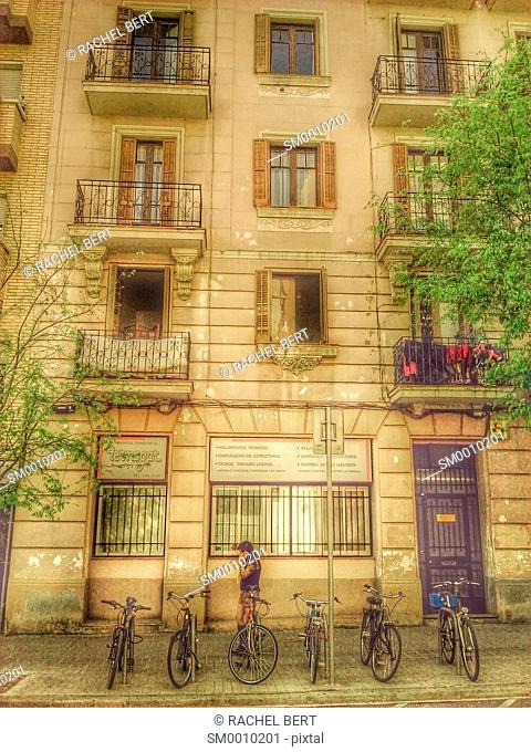 Urban scene, Eixample, Barcelona, Catalonia