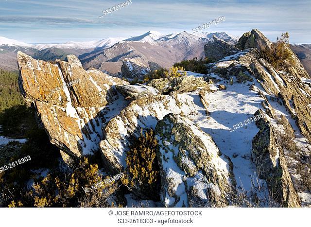 Bañaderos peak in the Sierra Norte. Montejo de la Sierra. Madrid. Spain. Europe