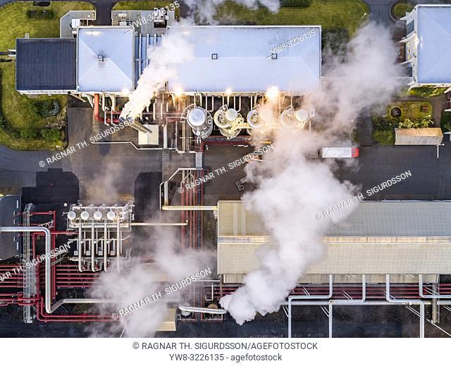 Svartsengi Geothermal Power Plant, Reykjanes Peninsula, Iceland