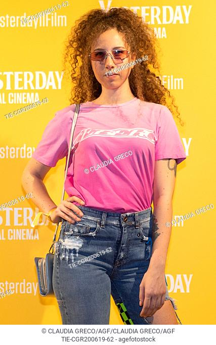 Rossella Essence during the photocall of film ' Yesterday ' in Milan, ITALY-20-06-2019