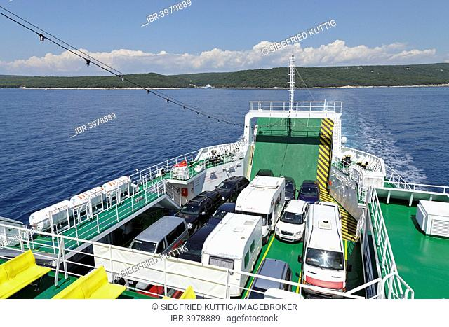 Ferry from Krk to Cres, Kvarner Gulf, Croatia