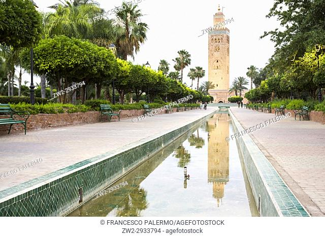 One of most popular landmarks of Morocco. Marrakech, Marrakech-Safi. Morocco