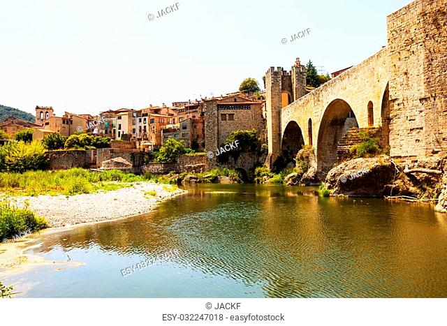 View of Medieval city. Besalu, Catalonia