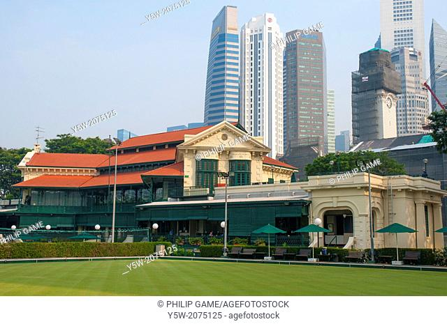 Singapore Cricket Club on the Padang, founded in the 1850s