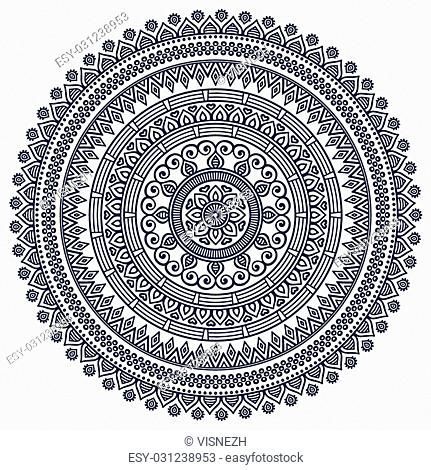 Geometric circle element made in vector
