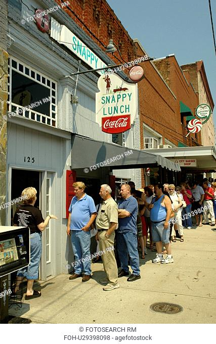 Mount Airy, NC, North Carolina, Downtown, Main Street, Snappy Lunch Restaurant