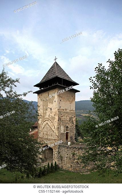 Serbia,Studenica Monastery,founded by Grand Prince Stefan Nemanja,late 12th century,Western Gate,Orthodox,christian,religious,exterior,outside,facade,colour