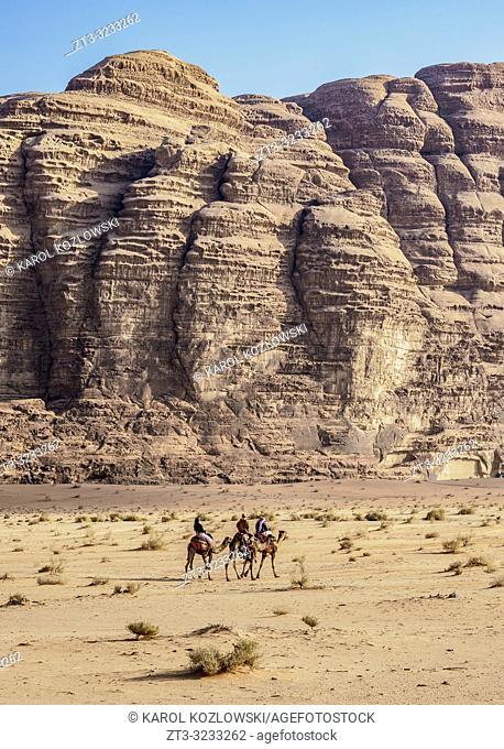 Camel Ride at Wadi Rum, Aqaba Governorate, Jordan