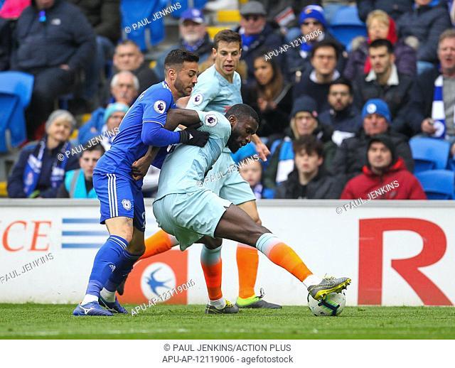 2019 EPL Premier League Football Cardiff City v Chelsea Mar 31st. 31st March 2019, Cardiff City Stadium, Cardiff, Wales; EPL Premier League football