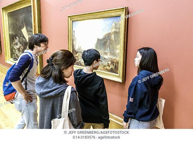 United Kingdom Great Britain England, London, Westminster, Millbank, Tate Britain art museum, inside interior, gallery, painting, Regulus by JMW Turner, Asian