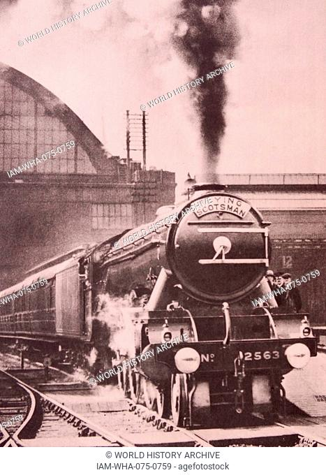 steam locomotive Flying Scotsman built in 1923 for the London and North Eastern Railway