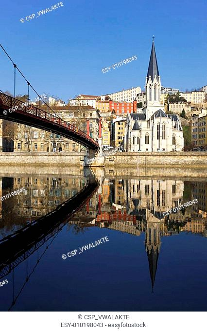 vertical view of Lyon