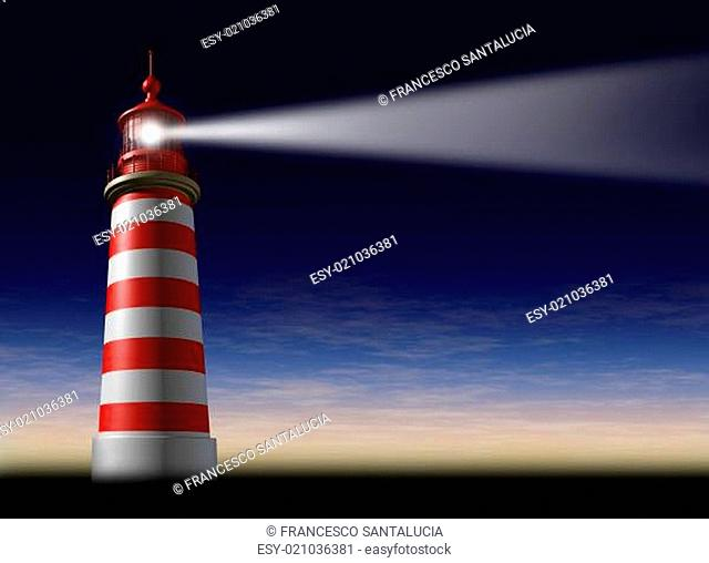 Lighthouse beam of light