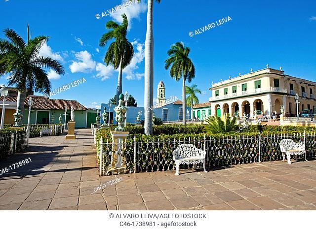 Main Square plaza Mayor, Trinidad city, Sancti Spiritus Province, Cuba