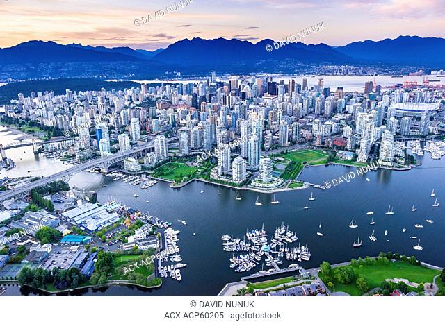 Vancouver with False Creek in foreground