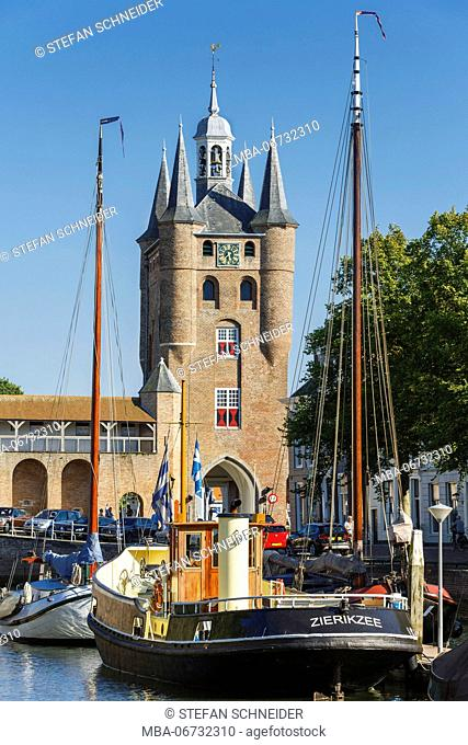 The internal-urban harbour of Zierikzee on Zeeland / the Netherlands