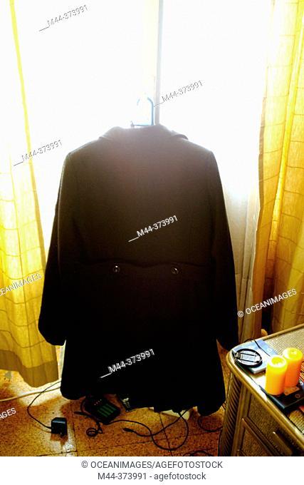 Coat, window