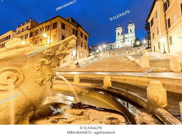 Europe, Italy, Lazio, Rome. Trinità dei Monti
