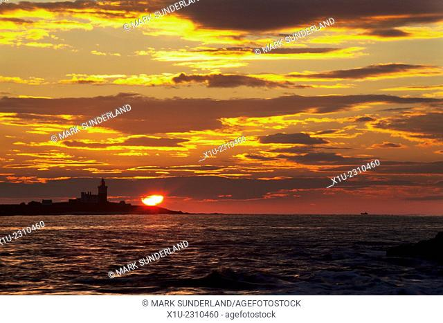 Sunrise at Coquet Island Amble by the Sea Northumberland Coast England