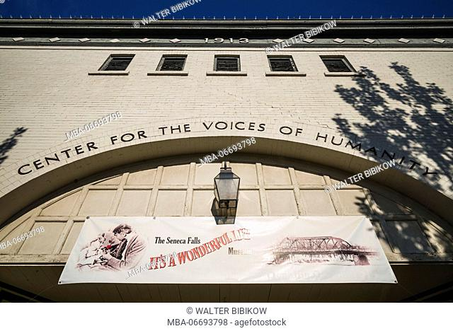 USA, New York, Finger Lakes Region, Seneca Falls, Its a Wonderful Life Museum, museum dedicated to he famous film, exterior