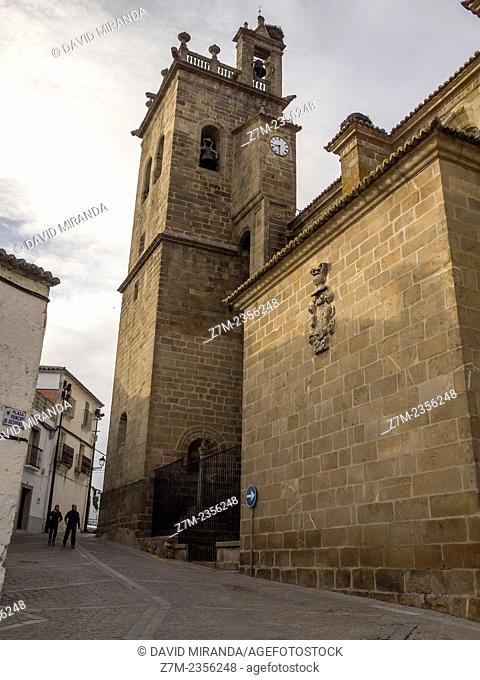 Belltower of the Church of Santa María la Mayor de la Asunción, Brozas, Cáceres province, Extremadura, Spain