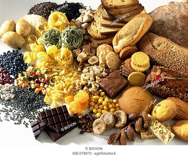 assorted starchy foods