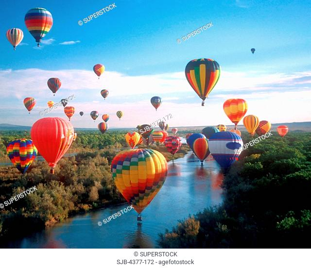 Hot Air Balloon Fiesta in New Mexico