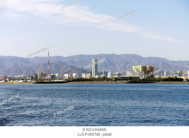 Skyline of the growing Fujairah's town which helps make up the United Arab Emirates