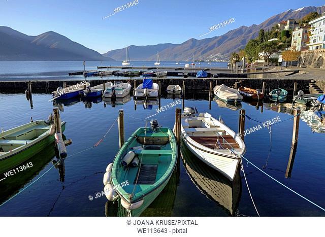 alter Hafen von Ascona, Ticino, Schweiz