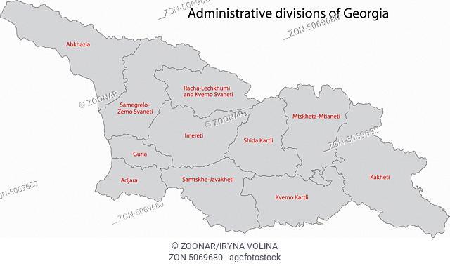 Grey Georgia map