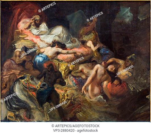 Eugene Delacroix. The Death of Sardanapalus. 1827. XIX th century. French school. Louvre Museum - Paris