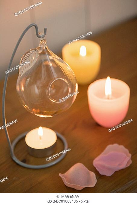 Aroma oil and candles