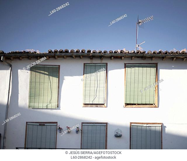 Facade in Hervás, Extremadura, Spain