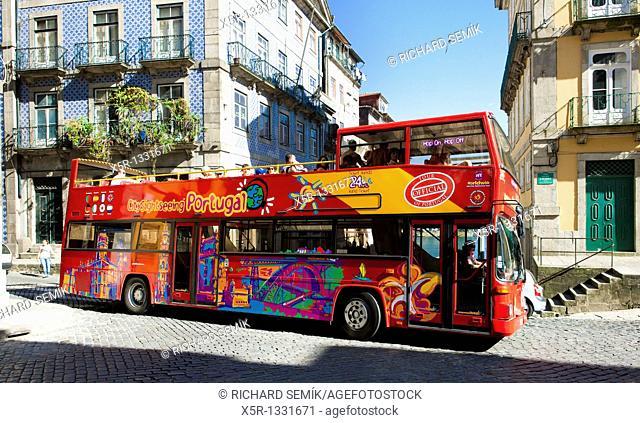 tourist bus, Porto, Douro Province, Portugal