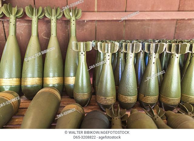 Cambodia, Siem Reap, War Museum, bombs