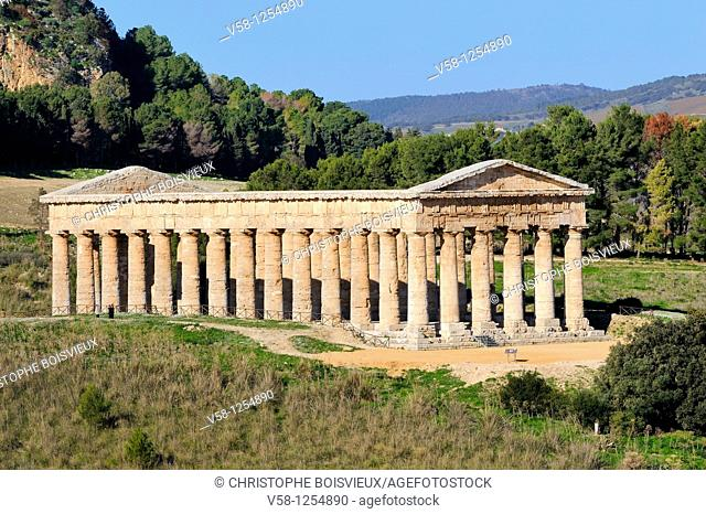 Italy, Sicily, Segesta, The temple 5th C BC