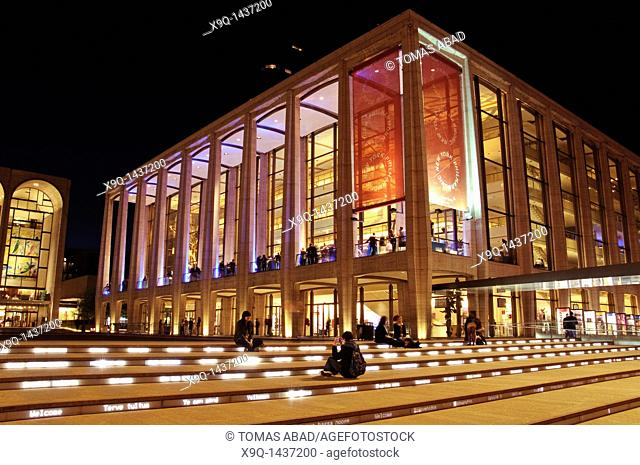 The renovated Lincoln Center Performing Arts center, Broadway, New York City, 2011