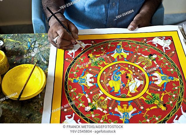 Cheriyal scroll painting ( Telangana, India)