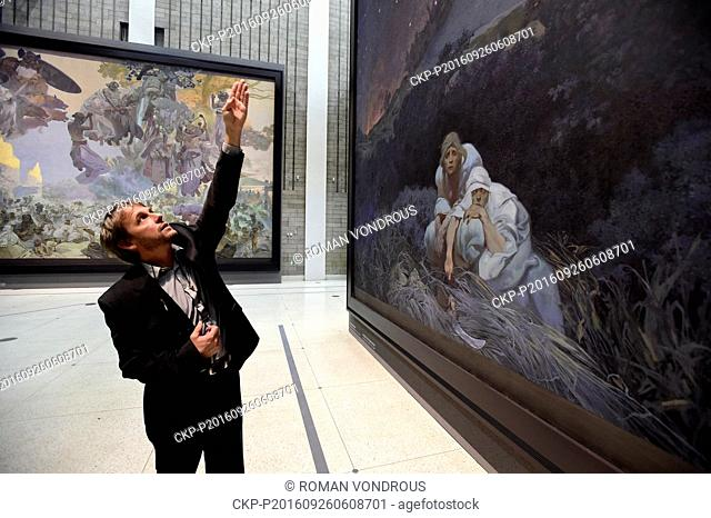 The Slav Epic cycle of paintings by Czech Art Nouveau artist Alfons Mucha (1860-1939) will fly to Tokyo in February where it will be displayed as of March 7