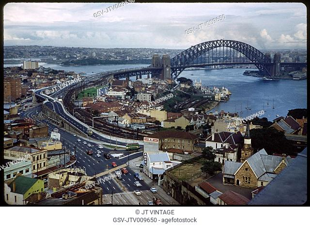 Harbour Bridge and Cityscape, Sydney, Australia, 1960's