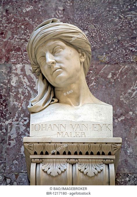Bust of Johann van Eyk, Jan van Eyk, Flemish painter