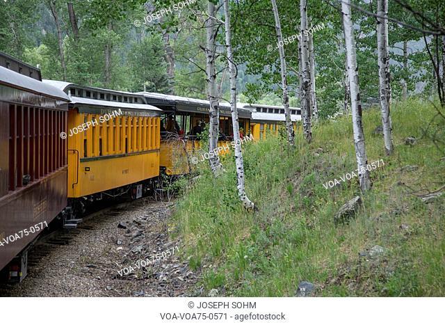 Durango and Silverton Narrow Gauge Railroad Steam Engine Train ride, Durango, Colorado, USA