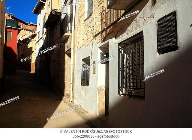 street Camarena de la Sierra. Javalambre Natural Park. Teruel