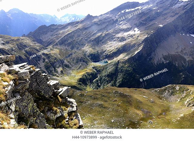 Switzerland, Europe, Graubünden, Grisons, valley of Calanca, Val Calanca, Rossa, Sentiero Calanca, Pass Ovest dell alta Burasca, Alp de Trescolmen, alp