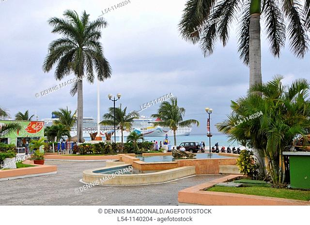 Caribbean Cruise Ship in Puerta Maya and Cozumel Mexico