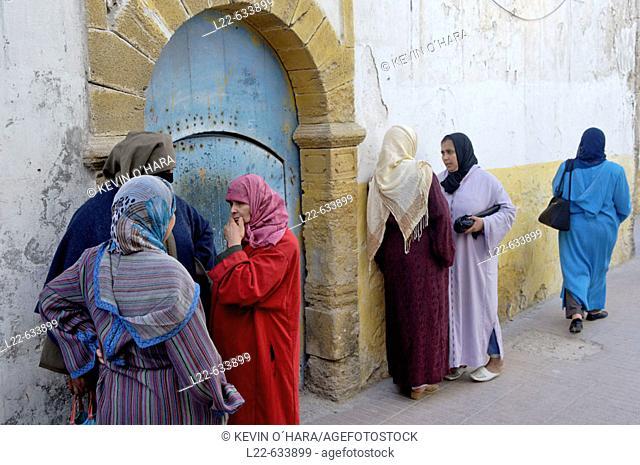 In the heart of the medina. The city of Essaouira. (historic city of Mogador). Atlantic coast. Morocco