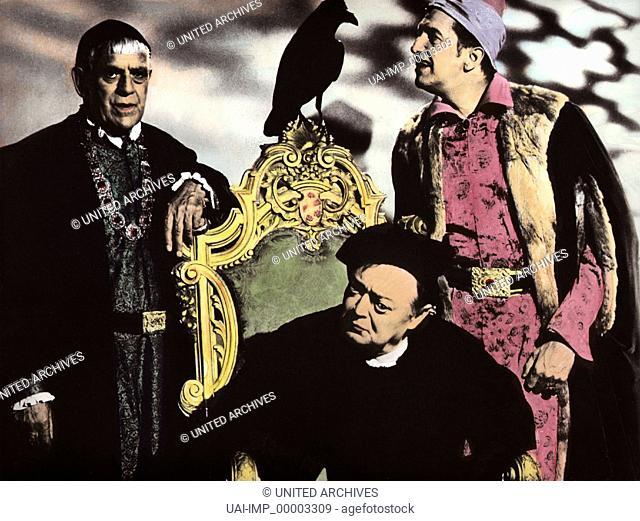 Der Rabe - Duell der Zauberer, (THE RAVEN) USA 1962, Regie: Roger Corman, BORIS KARLOFF, PETER LORRE, VINCENT PRICE, Stichwort: Edgar Allan Poe, Zauberer
