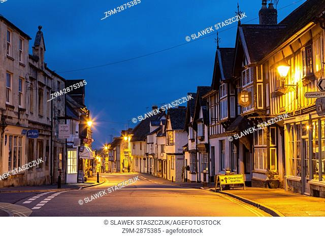 Dawn in Winchcombe, a small town in the Cotswolds, Gloucestershire, England