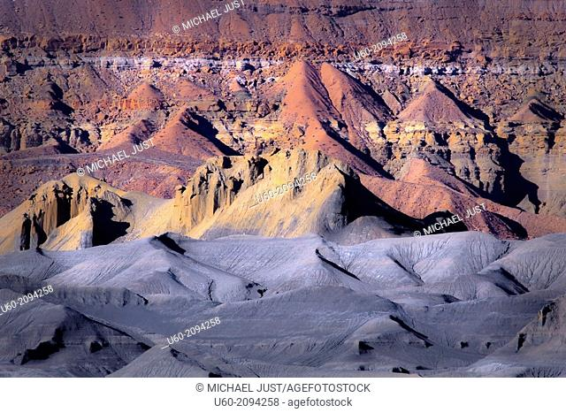 Unusual rock formations and colors make up the landscape at Grand Staircase Escalante National Monument in Utah