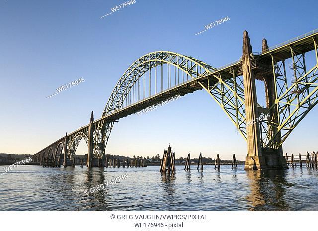 Yaquina Bay Bridge, Newport, central Oregon Coast